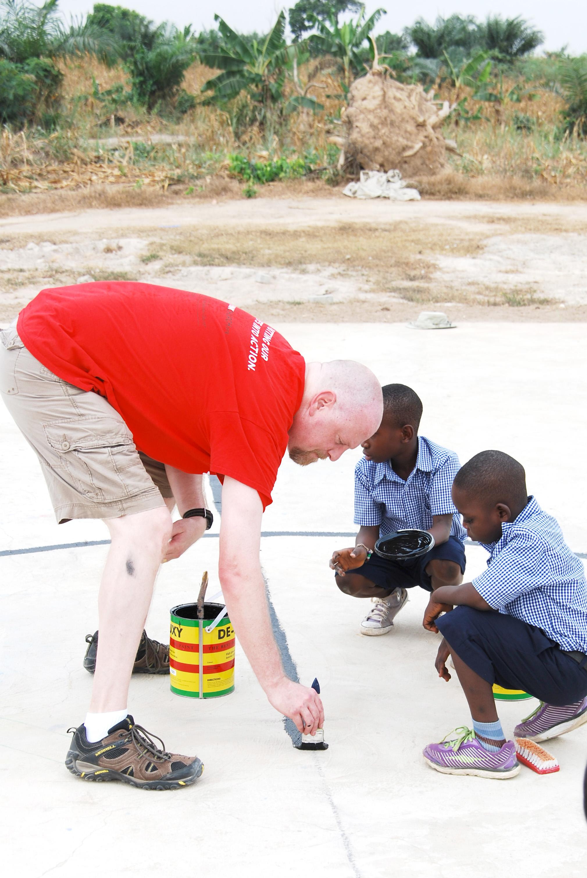 Painting Lines in Ghana