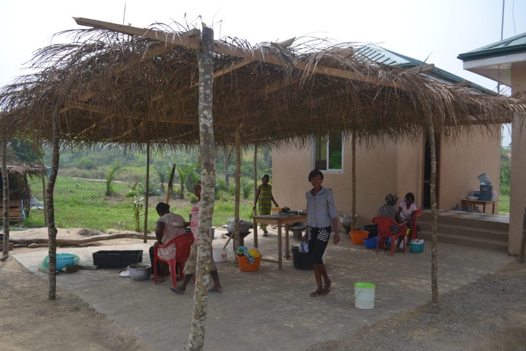 Outdoor kitchen prep area in 2012.